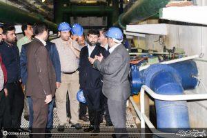 شریعتی استاندارخوزستان در بازدید از تصفیه خانه آب شماره دو اهواز خبر داد : اختصاص 2000 میلیارد ریال اعتبار ویژه طرح های آبرسانی