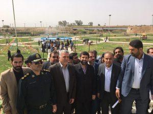 با حضور استاندار خوزستان پارک ساحلی شهر الوان افتتاح شد
