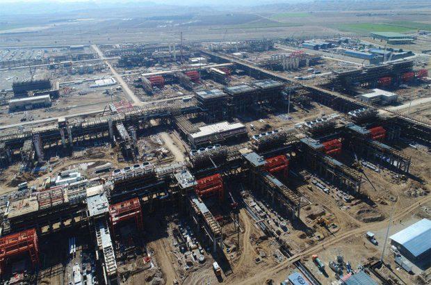 پیشرفت ۷۷ درصدی پالایشگاه گاز خلیج فارس