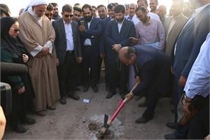 پروژه احداث تصفیه خانه و تاسیسات آبرسانی شهر چوئبده آبادان با حضور استاندار خوزستان آغاز شد