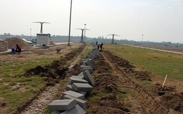 آغاز عملیات احداث پارک هنر توسط سازمان زیباسازی شهرداری اهواز
