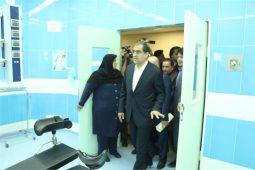ساختمان جدید بیمارستان سوانح و سوختگی طالقانی اهواز با حضور وزیر بهداشت و استاندارخوزستان افتتاح شد