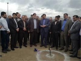 کلنگ زنی پایگاه چند منظوره مدیریت بحران در شهرستان باغملک