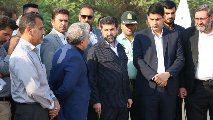 بهره برداری و آغاز عملیات اجرایی از سه پروژه عمرانی در شهرستان حمیدیه با حضور استاندار