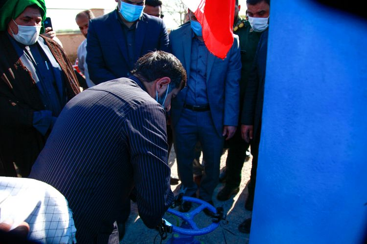 پروژه خطوط تامین آب شهرستان حمیدیه با حضور شریعتی استاندار خوزستان به بهره برداری رسید