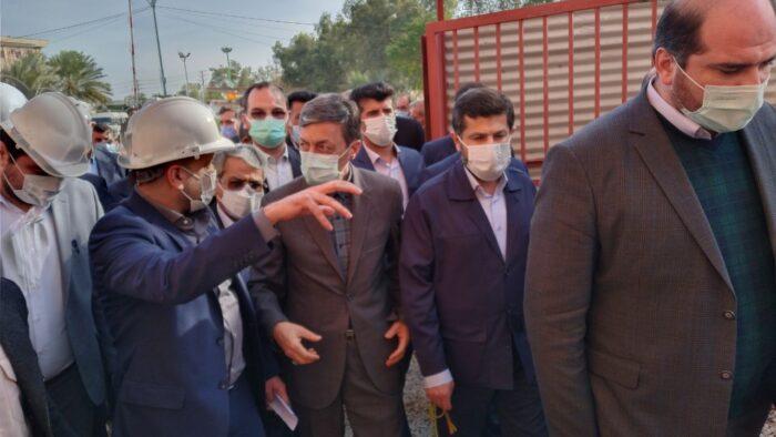 بازدید رئیس بنیاد مستضعفان و استاندار خوزستان از روند اجرایی طرح های آبادان و خرمشهر