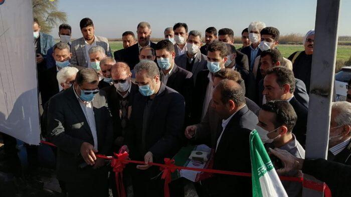افتتاح پروژه ۳۲۰ هکتاری آبیاری تحت فشار در حمیدیه با حضور وزیر جهاد کشاورزی