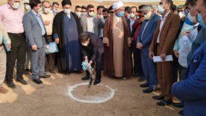 با حضور استاندار خوزستان، پروژه بند بتن غلتکی K6 در هفتگل کلنگ زنی شد