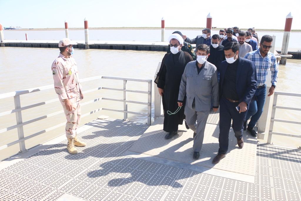بازدید و افتتاح پروژه های عمرانی شهرستان شادگان توسط شریعتی استاندار خوزستان