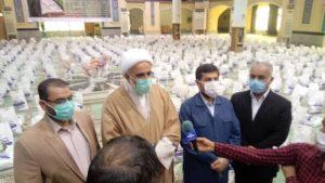 ۱۴۰۰ بسته غذایی با حضور استاندار خوزستان در آبادان جهت اقشار آسیب دیده از محدودیت های کرونا توزیع شد
