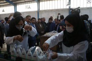 افتتاح کارخانه تولید محلول ضدعفونی کننده دست در اهواز باحضور استاندار خوزستان