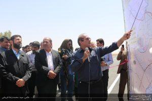 بهره برداری و آغاز عملیات اجرایی پروژه های راه سازی با حضور استاندار خوزستان / گزارش تصویری
