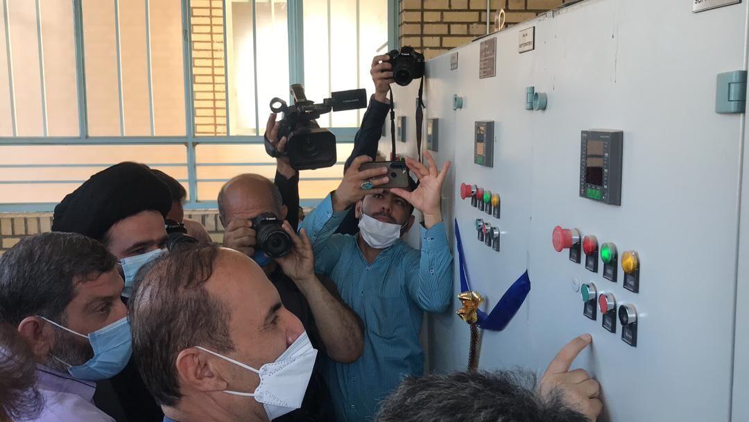 با حضور استاندار خوزستان ایستگاه پمپاژ شهر شرافت شوشتر به بهره برداری رسید