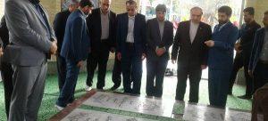 ادای احترام وزیر ورزش به مقام شهدای گمنام گتوند/ استخر شهیدان تاجبخش افتتاح شد