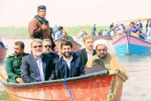 بازدید وزیر کشور و استاندار خوزستان از تالاب شادگان / گزارش تصویری