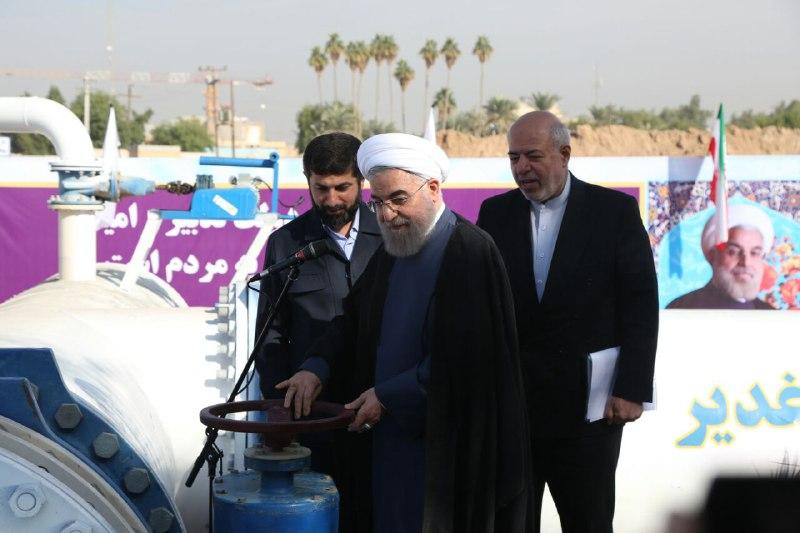 با هدف آبرسانی به شرق اهواز و دشت آزادگان؛رئیس جمهور بخشی از پروژه آبرسانی غدیر را افتتاح کرد