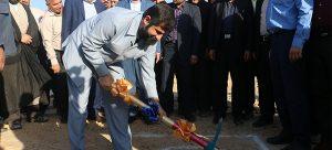 کلنگ زني پروژه آبرساني به 27 روستای بخش رغیوه شهرستان هفتکل+تصاویر