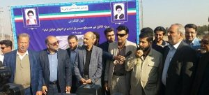 عملیات اجرایی پروژه تقاطع غیر همسطح پل ششم اهواز با حضور استاندار خوزستان آغاز شد