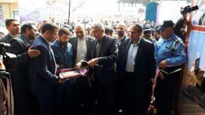 طرح آبرسانی به پایانه مرزی چذابه با حضور وزیر نیرو و استاندارخوزستان افتتاح شد