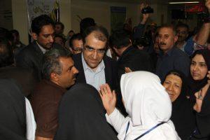 با حضور وزیر بهداشت و استاندار خوزستان،دو پروژه بهداشتی درمانی در بهبهان به بهره برداری رسید