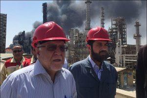 گزارش تصویری/آتش سوزی و عملیا ت اطفای حریق پتروشیمی واحد بوعلی سینای ماهشهر