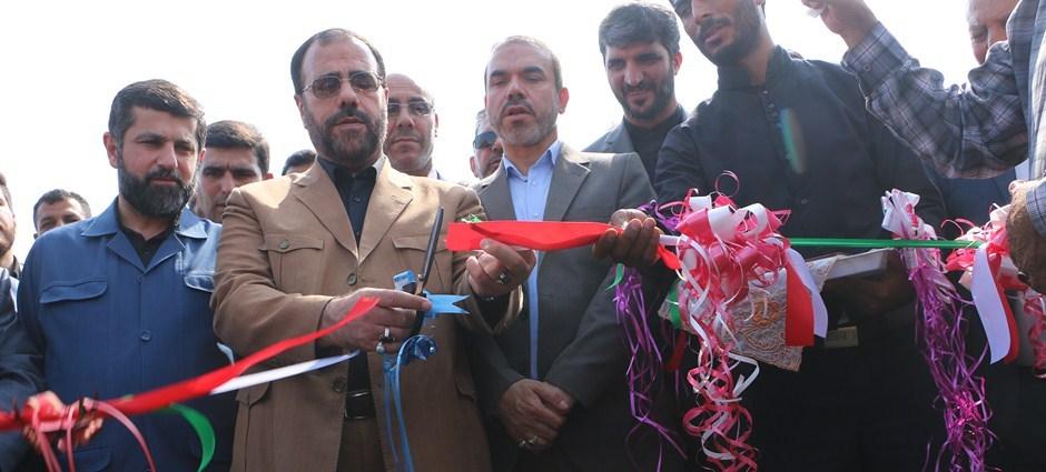 دو پروژه با حضور معاون پارلمانی رئیس جمهور و استاندار خوزستان در شهرستان شوش کلنگ زنی و افتتاح شد