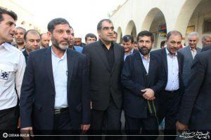 افتتاح 4 طرح بیمارستانی و اورژانس در شوشتر با حضور هاشمی وزیر بهداشت و شریعتی استاندار خوزستان