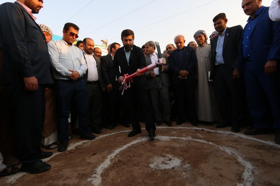 پروژه آبرسانی به 16 روستای بخش مشراگه شهرستان رامشیر با حضور استاندار خوزستان کلنگ زنی شد