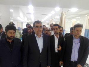 با حضور وزیر بهداشت و استاندار خوزستان چند پروژه بهداشتی و درمانی در ایذه و باغملک افتتاح شد